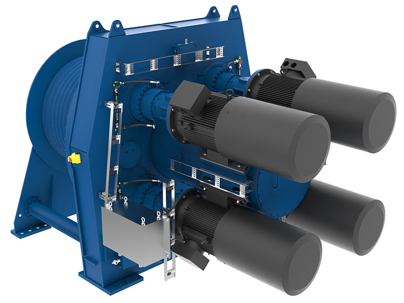Siebenhaar has recently delivered fall pipe winches for Jan de Nul